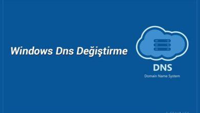 Windows DNS değiştirme