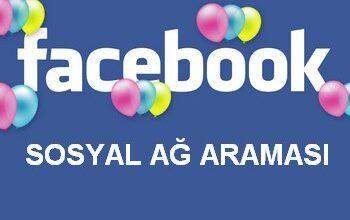 Facebook Sosyal Ağ Arama Motoru