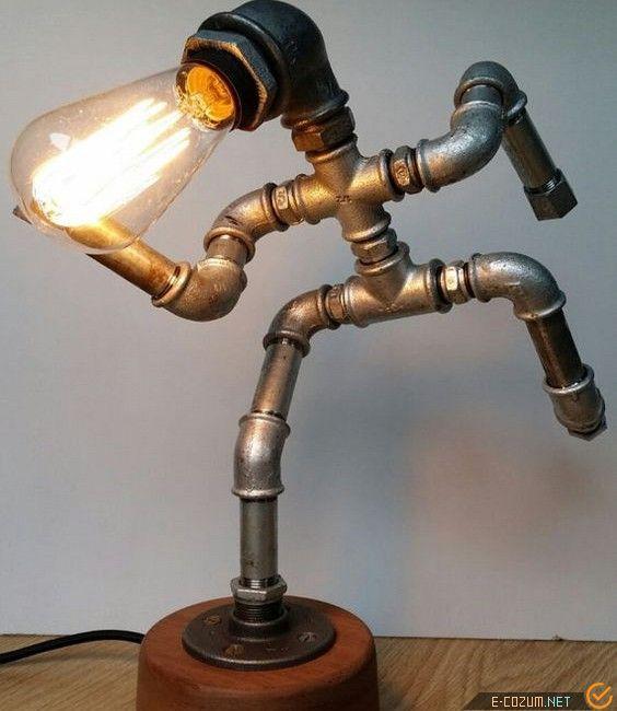 Tesisat parçalarından lamba tasarımı