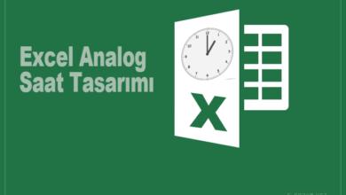 Excel ile analog saat yapımı