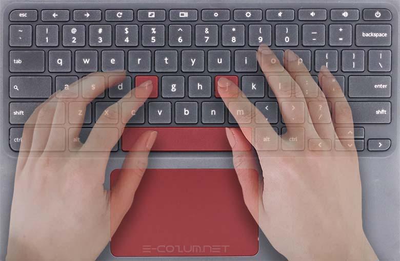 Klavye ve parmakların yerleşimi